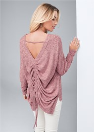 Cropped back view Cozy Back Detail Lounge Top