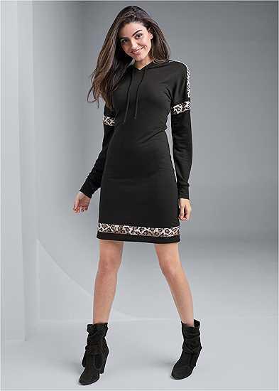 Leopard Detail Lounge Dress