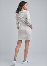 Full back view Cozy Waffle Knit Dress