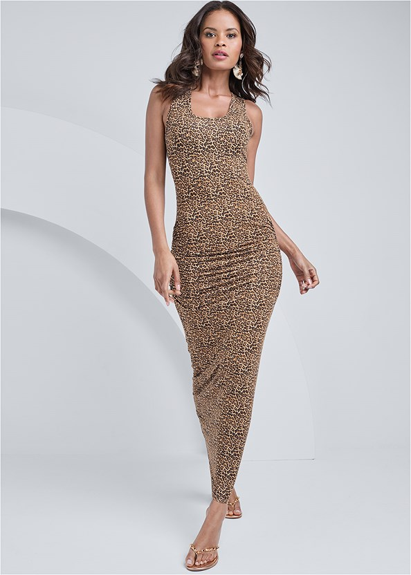 Ruched Tank Maxi Dress,Push Up Bra Buy 2 For $40,Studded Flip Flops,Beaded Hoop Earrings