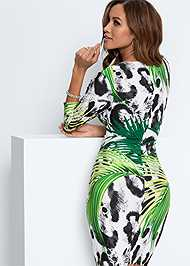 Alternate View Mixed Print Bodycon Dress