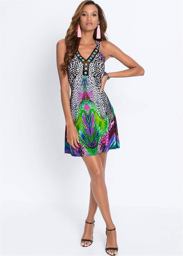 Alternate View Embellished Printed Dress
