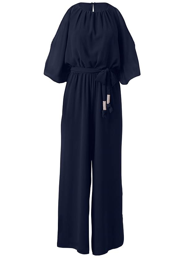 Ghost with background  view Cold Shoulder Jumpsuit