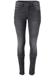 Ghost with background  view Stud Detail Skinny Jeans