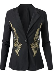 Ghost with background  view Embroidered Blazer