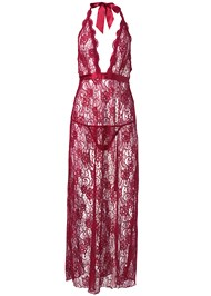 Alternate View Deep V Lace Long Gown