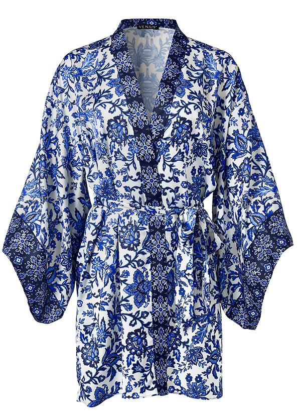 Ghost with background  view Satin Sleep Robe