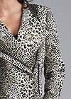 Detail front view Leopard Print Moto Jacket