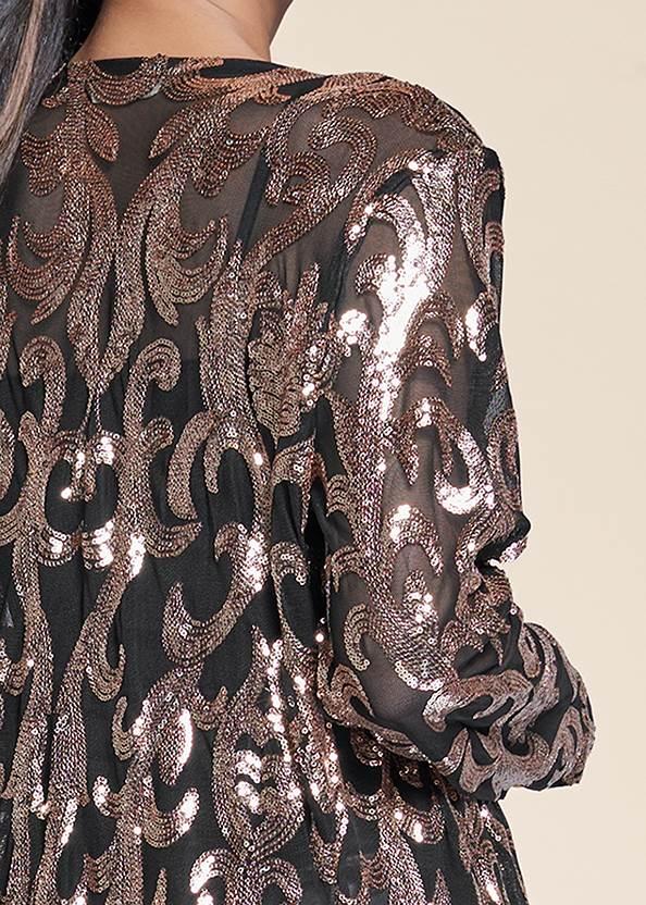 Detail back view Sequin Mesh Long Jacket