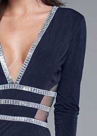 Alternate View Embellished Trim Long Dress