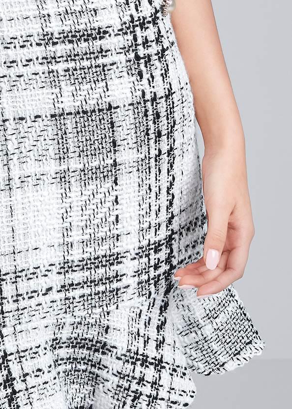 Alternate View Pearl Detail Tweed Dress
