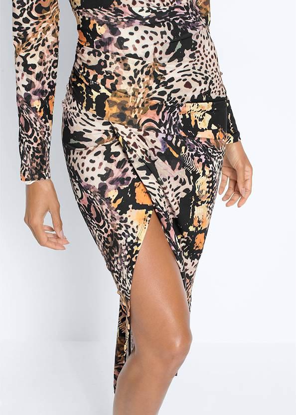 Detail  view Printed High Slit Dress