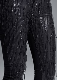 Alternate View Sequin Fringe Skinny Jeans