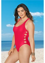 plus size twist one-piece