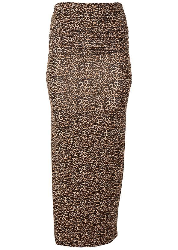 Alternate View Gathered Waist Long Skirt