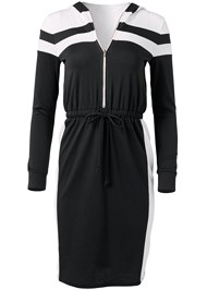 Ghost with background  view Hooded Zip Lounge Dress