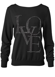 Ghost with background  view Back Detail Love Sweatshirt