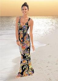 Alternate View Paisley Printed Maxi Dress