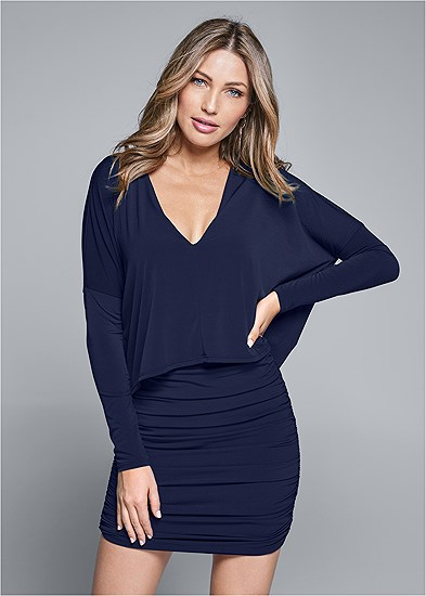 Overlay Detail Casual Dress
