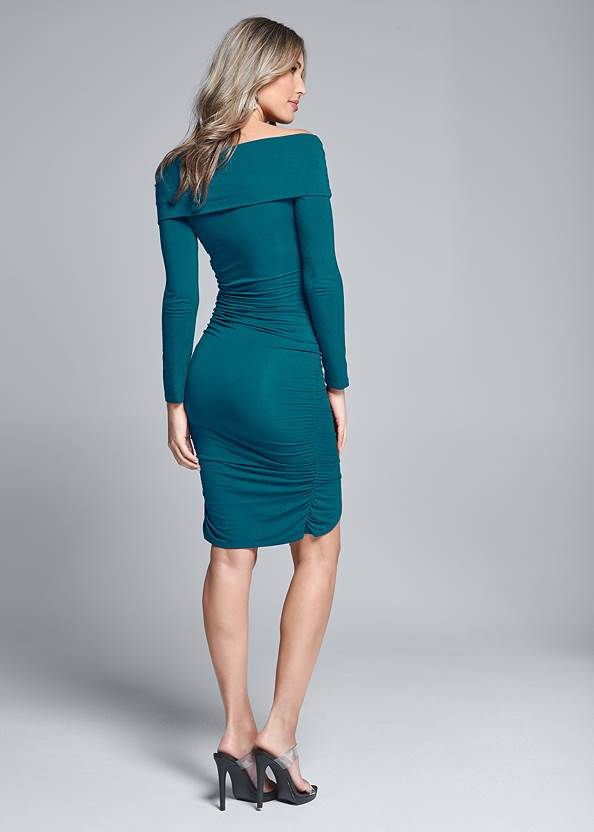 Back View Twist Detail Bodycon Dress