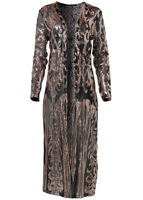 Alternate View Sequin Mesh Long Jacket