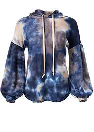 Ghost with background  view Tie Dye Waffle Knit Top