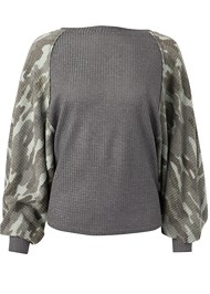 Ghost with background  view Waffle Knit Camo Lounge Top