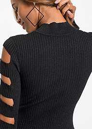 Alternate View Sleeve Detail Bodycon Dress