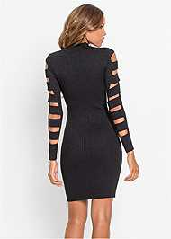 Full back view Sleeve Detail Bodycon Dress