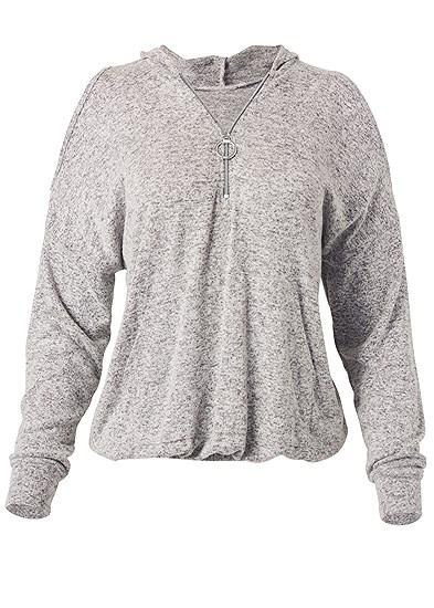 Plus Size Cozy Zip Sweatshirt