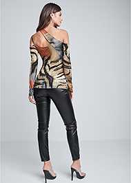 Back View Animal Print Strappy Top