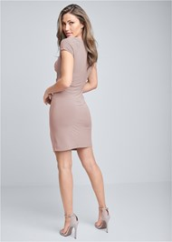 Back View Ruched Dress