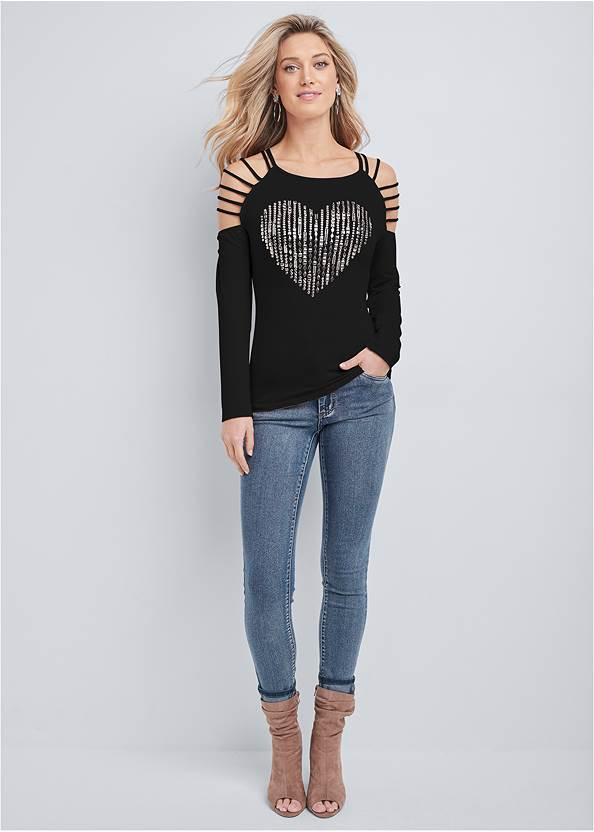 Alternate View Embellished Heart Top