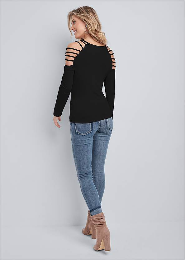 Back View Embellished Heart Top