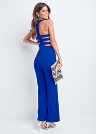 Back View Strappy Back Jumpsuit