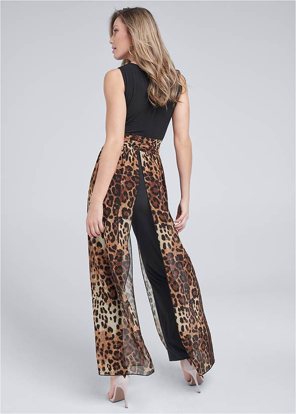 Back View Animal Overlay Jumpsuit