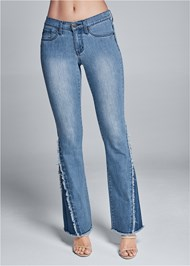 Front View Duo Tone Bootcut Jeans