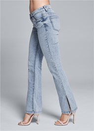 Alternate View Slit Detail Bootcut Jeans