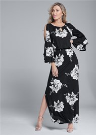 Alternate View Floral Maxi Dress