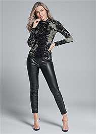 Alternate View Lace Mock Neck Top