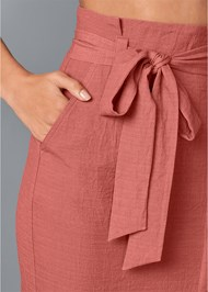 Alternate View Knee Length Linen Skirt