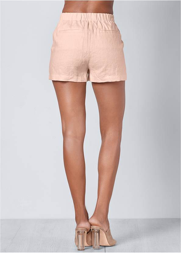 Back View Linen Shorts
