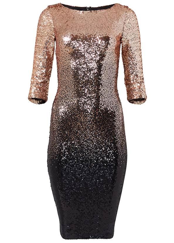 Alternate View Ombre Sequin Dress