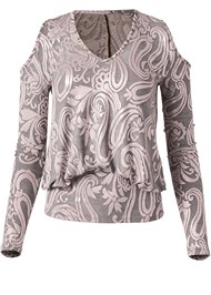Ghost with background  view Shimmer Paisley Top