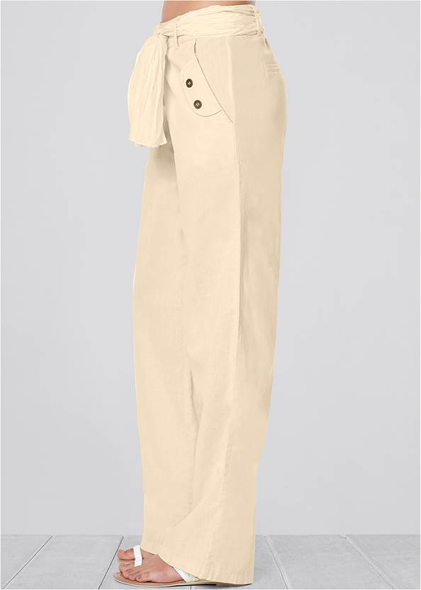 Alternate View Linen Belted Pants