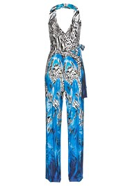 Ghost front view Mixed Print Halter Jumpsuit