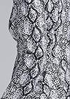 Detail back view High Low Snake Print Jacket