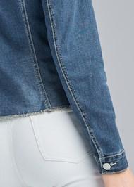 Alternate View Distressed Faux Pearl Denim Jacket