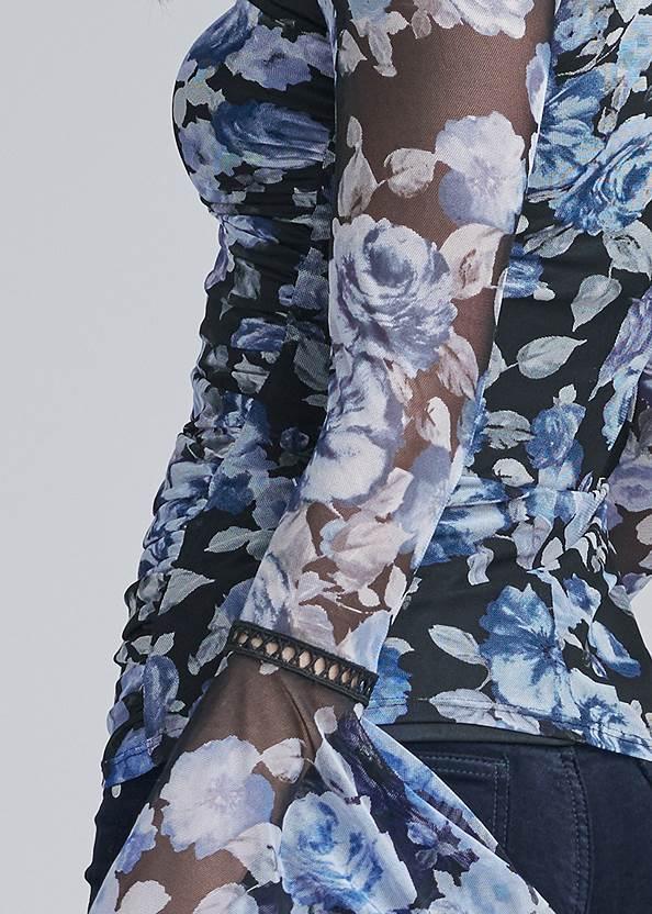 Alternate View Floral Mesh Top