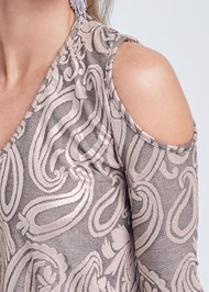 Detail front view Shimmer Paisley Top